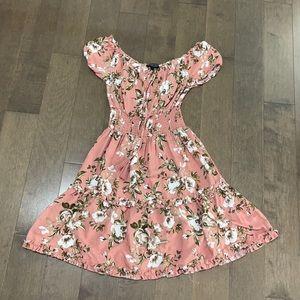 Tropical flower dress